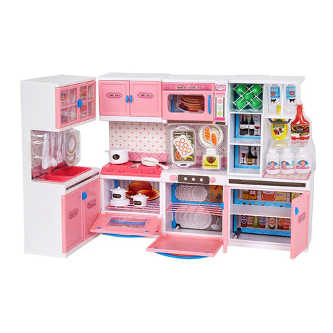 Bosonshop Cooking Kitchen Learning Experience Fun Life Skills Toy Kitchen for Kids
