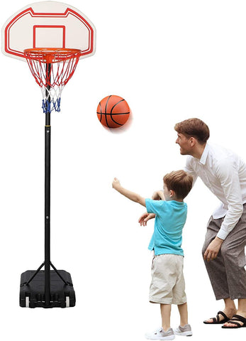 Portable Basketball Hoop Kids Indoor Outdoor Sport Basketball Goal Height Adjustable