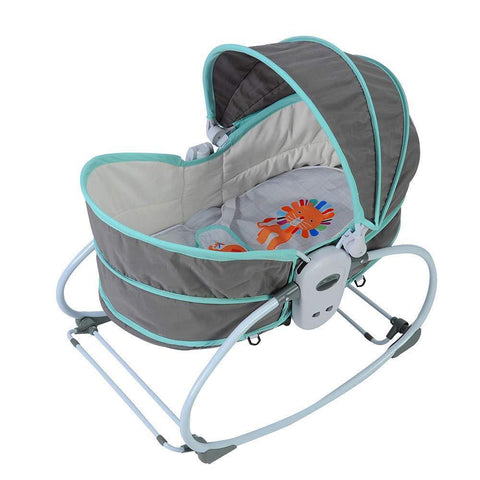 Multifunctional Portable Baby Bed can Gliding Swing, Green