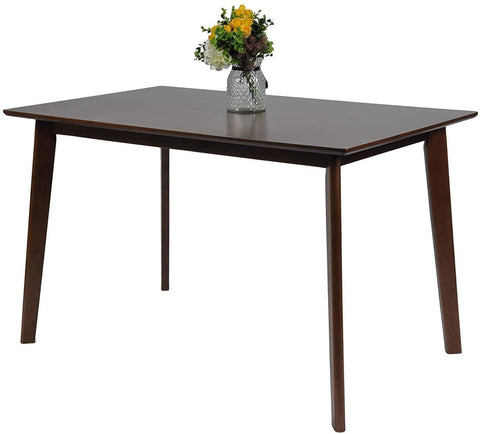 Rectangle 6-Person Wood Dining Tables for Kitchen Modern Home Furniture Espresso