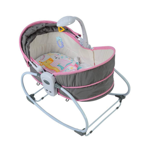 Newborn Crib Multifunctional Portable Baby Bed can Gliding Swing, Pink