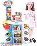 Bosonshop Kids Grocery Supermarket Shop Stand and Cash Register Play Set Toy