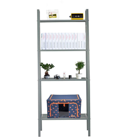 Metal 4 Tier Ladder Shelf Bookcase Plant Flower Stand Multi-Functional Display Stand