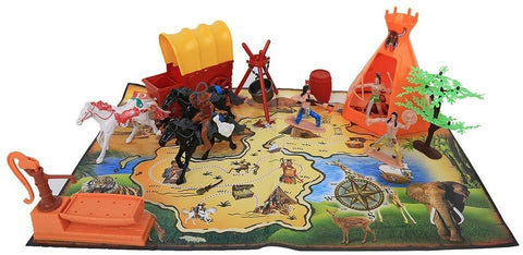 Wild West Cowboy and Indian Pretend Playset Toy