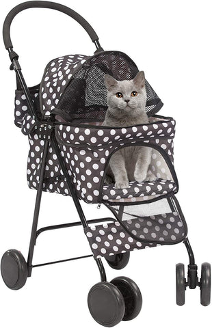 Pet Gear Special Edition 4 Wheels Pet Stroller for Cats/Dogs, Fashion Polka Dot Style