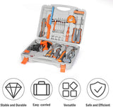 Home Kitchen Repair Tool Kit Tool Box for Home, General Household Kit with Plastic Storage Case, 33PCS