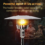 Outdoor Propane Heater Portable Patio Heater With Wheels 87 Inches Tall 36000 BTU for  Commercial Courtyard (Black)