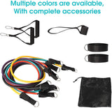 11 Pack Resistance Bands Set with Door Anchor Pulling Force Isolation Belt Set can be Adjustable