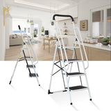 Bosonshop Portable Anti-Slip 4 Step Ladder with Wide Pedal and Sturdy Handrails