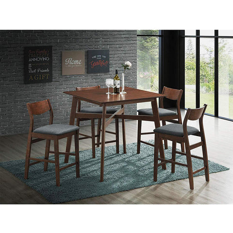 Bosonshop Counter Height Table Set Pub Bar Stools Modern Mid Century Style, 5 Piece