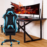 Bosonshop Gaming Desk Chair Ergonomic Office Chair with Footrest Racing Style