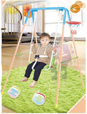 2 in 1 Kids Toddler Children Swing Seat Chair Swing Basketball Outdoor For Backyard Playground w/Rope