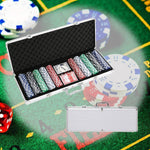 Bosonshop 500Pc Poker Game Set with Carrying Case, Cards, Dice and 500 Casino Chips