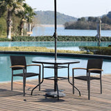 4 Pack Outdoor Patio All Weather PE Wicker Dining Chairs with Aluminum Alloy Frame