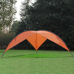 Bosonshop Large Canopy Tent Anti-UV Sun Shelter, Easy Setup, Orange