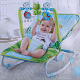 Baby Portable Rocking Chair Music Bouncer and Rocker Seat with Removable Toys