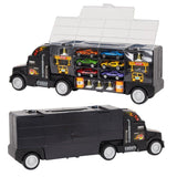 Bosonshop Transporter Carrier Truck Loaded with Metal Toy Cars
