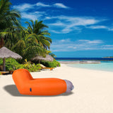 Bosonshop Summer Outdoor Inflatable Lounger Seat Air Mattress Lounge Chair Sofa with Storage Bag