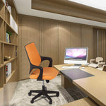 Bosonshop Mid Back Swivel Chair Swivel Office Desk Chair with Arm Office and Computer Chair,Orange and Black
