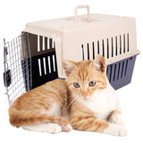 Bosonshop Plastic Cat & Dog Carrier Cage with Chrome Door Portable Pet Box Airline Approved, Large