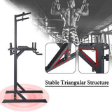 Power Tower Workout Dip Station Adjustable Multi-Function Home Gym Strength Training