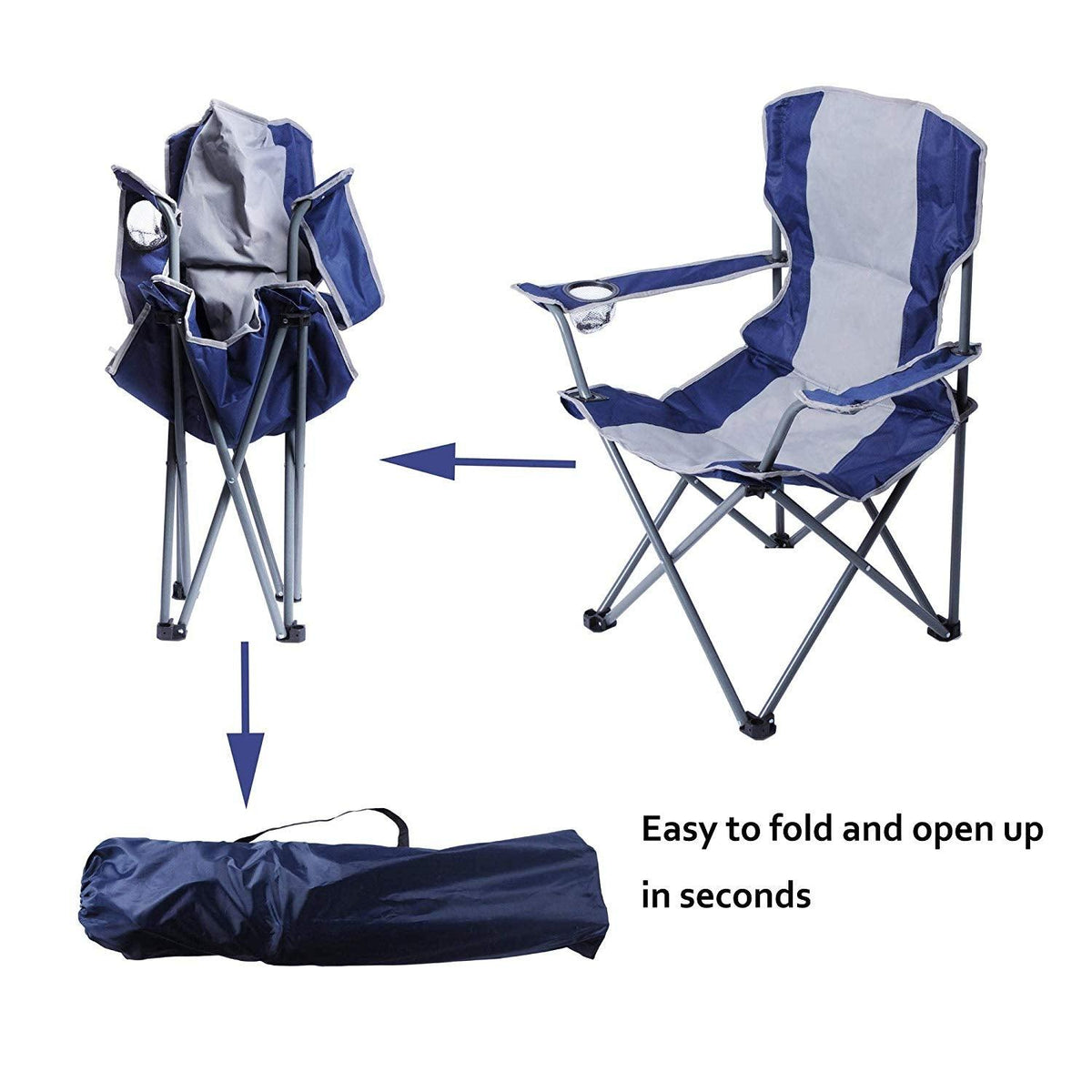 Canopy Camping Chair Folding Durable Outdoor Patio Seat