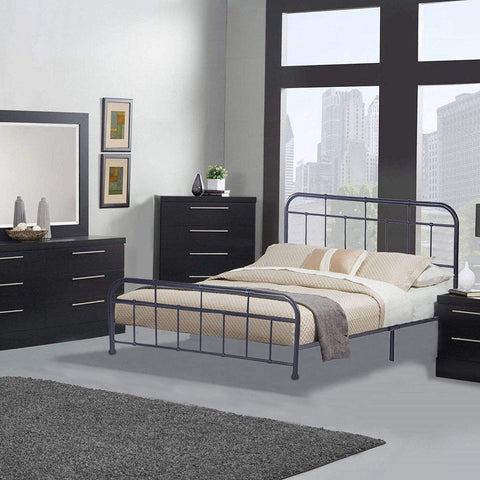 Bosonshop Mordern Queen Size Platform Bed with Frame, Black, 12inch