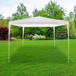 10' x 10' x 8.2' Folding Screened Sun Shelter Canopy Tent with Mesh Sidewalls - White