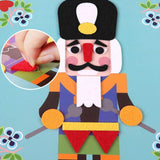 Bosonshop DIY Handmade Art Kits for Kids Fuzzy Felt Picture Sticky Mosaics 6 Templates of Creative Scenes Learning Educational Toys for Toddlers