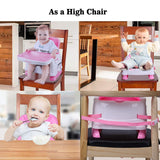 Toddler Booster Seat for Dining Table Baby Portable High Chair for Travel, Infant Floor Chair Seat