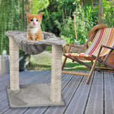 Large Cat Tree Cat Scratching Cat Climber with Condo Cat Tower Furniture and Hammock, Sisal-Covered