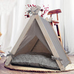 Bosonshop Pet Teepee Tent Dog & Cat Tent Bed Small Washable with Soft Bed Padding for Kitty Puppy Small Dog