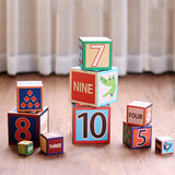 Bosonshop 10 Pieces Nesting Blocks Stacking Cube Boxes Educational Number Block for Kids Educational Toy