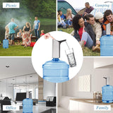 Water Bottle 4 Keys Portable Intelligent Water Bottle Pump Dispenser
