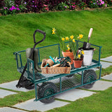 Utility Wagon Farm and Heavy Duty Cart with Removable Folding Sides, 550 lbs Load Capacity, Perfect for Garden