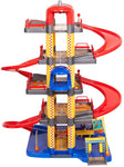 Super Parking Garage Playset Includes 6 Cars for Toddlers