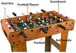 "27"" Foosball Table, Easily Assemble Wooden Soccer Game Table Top w/Footballs, Indoor Table Soccer Set"