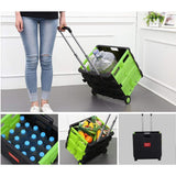 Bosonshop Collapsible Grocery Storage Transit Utility Hand Cart for Daily Use, 77 Lbs Capacity