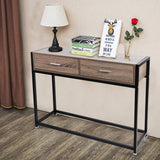 Bosonshop Console Entryway Sofa Coffee Tables with Drawers