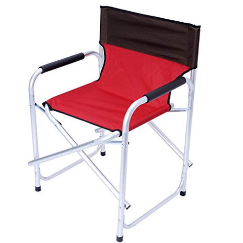 Bosonshop Folding Director's Chair Portable Aluminum Camping Chairs with Armrest for Outdoor Activity