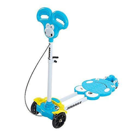Bosonshop Children Kickboard Push Swing Scooter 4 Wheel Kick Scooter for Kids