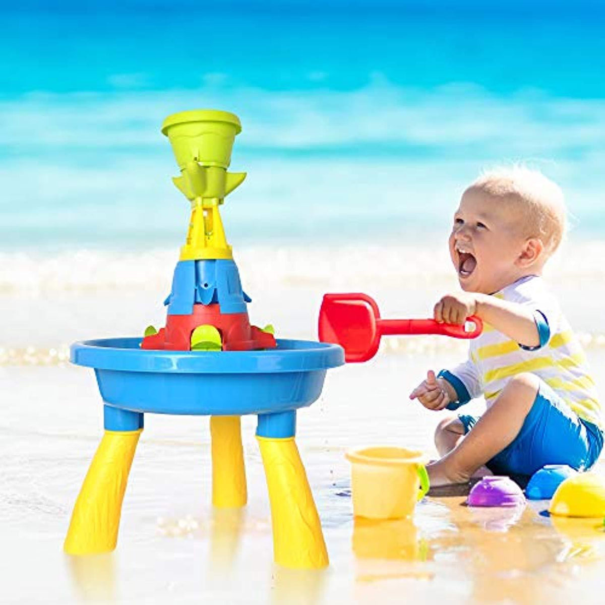 Kids Sand And Water Table Play Fun Waterpark Play Table