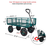 Bosonshop Utility Wagon Cart Steel Garden Cart 550 LBS Weight Capacity Four Side Removable
