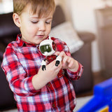 Bosonshop Mini Metal Robots for Kids,Touch-Sensitive, Voice, Music & Light ,Red Color