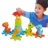 Bosonshop Electric Gear Dinosaur Park Blocks Play Set with Music and Light