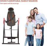 Bosonshop Inversion Table with Headrest and Adjustable Protective Back Stretcher Treatment Stand, Fitness Inverter