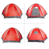 Bosonshop 2-3 Person Tent with Carry Bag Waterproof Moisture-proof, Red