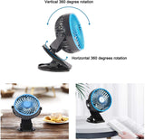 Mini USB Powered Desk Fan can 360 degree rotation Fan Speed Adjustable, Personal Fan Strong Airflow and Quiet for Home Office