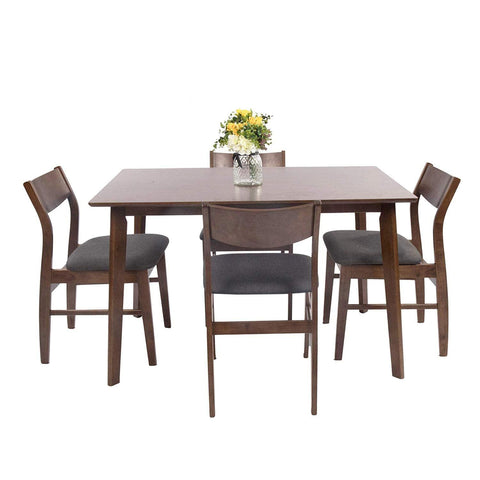 Bosonshop Kitchen & Dining Room Sets Rustic Industrial Style, Wooden, Brown