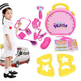 Bosonshop Plastic Nurse Doctor Toys Girl's Pretend Play Toy Medical Tool Box